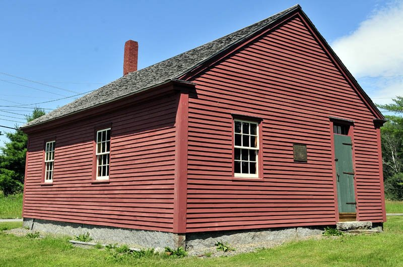 OLD SCHOOL: The Dudley Corner school house in Skowhegan.