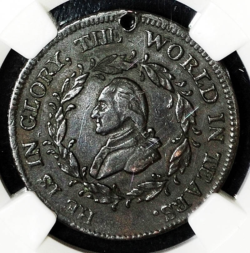 Thomas Donlon recently had this copper 1800 George Washington funeral medallion authenticated.