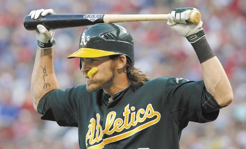 OFF TO A STRONG START: Josh Reddick, who was traded to the Oakland A's by the Boston Red Sox as part of the Andrew Bailey trade, leads the A's with 19 home runs this season.