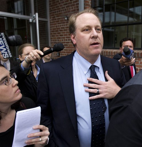 Former Boston Red Sox pitcher Curt Schilling says the collapse of his 38 Studios video game company has probably cost him his entire baseball fortune, and he put part of the blame on Rhode Island Gov. Lincoln Chafee.