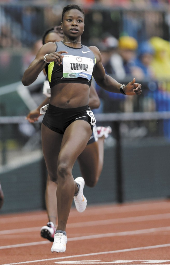 NO THANKS: Jeneba Tarmoh decided against competing in a run-off against training partner Allyson Felix for the final spot on the U.S. Olympic team in the women's 100-meter dash.
