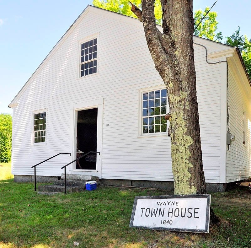 The historic Wayne Town House on Route 133 north of the village is being renovated.
