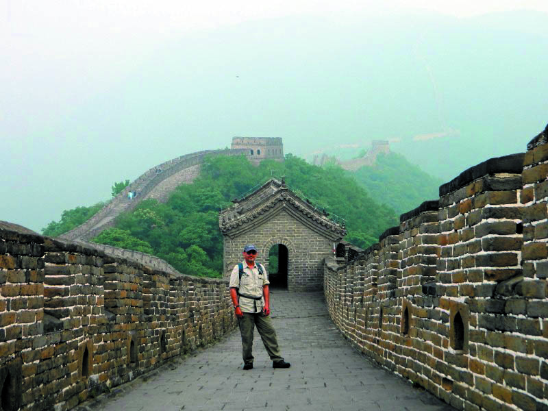 University of Maine at Augusta Prof. Robert Katz at the Great Wall of China.