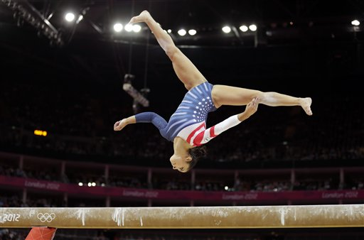 U.S. gymnast Alexandra Raisman performs on the balance beam during the artistic gymnastics women's apparatus finals at the 2012 Summer Olympics, Tuesday in London.
