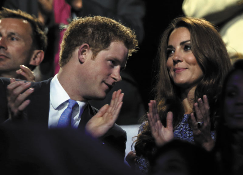 Catherine, Duchess of Cambridge, and Prince Harry watch the closing ceremony at the 2012 Summer Olympics on Sunday in London. 2012 London Olympic Games Summe