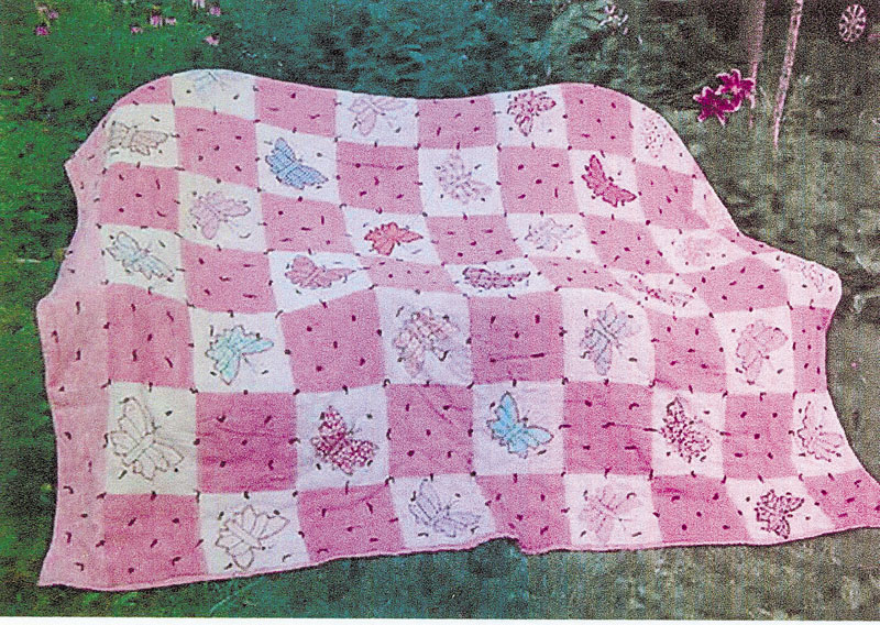 A quilt made by Minella Wadleigh and Addie Wadleigh during the mid-1940s will be among those shown during a show Saturday at the historic Readfield Union Meeting House. This quilt was made for Marilyn Wadleigh Bean, of Vienna. The material is mostly grain bags, and the inside is filled with sheep's wool.
