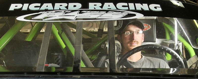 Staff Photo by Michael G. Seamans Ajay Picard, of Palmyra is the Late Model points champ at Unity Raceway for 2012.