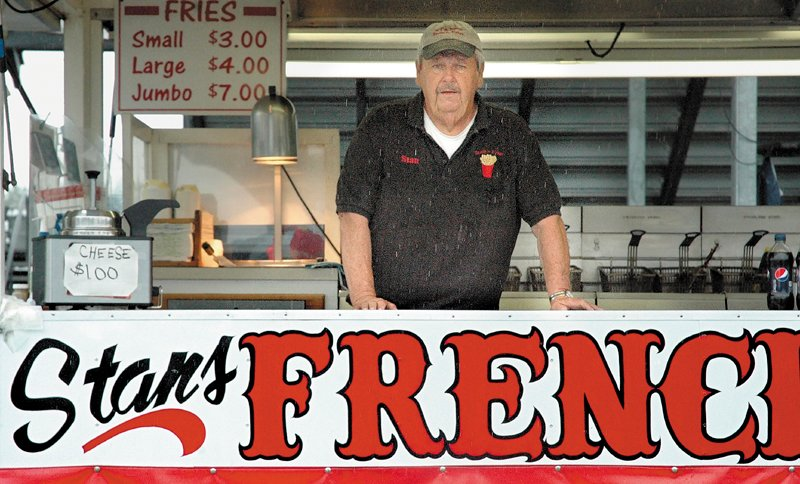 Stan McGray and his french fry stand are celebrating a quarter-century at the Skowhegan State Fair.