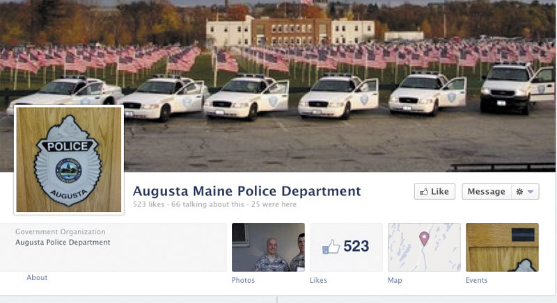 """The Augusta Police Department's Facebook page shows it has 523 """"likes."""""""