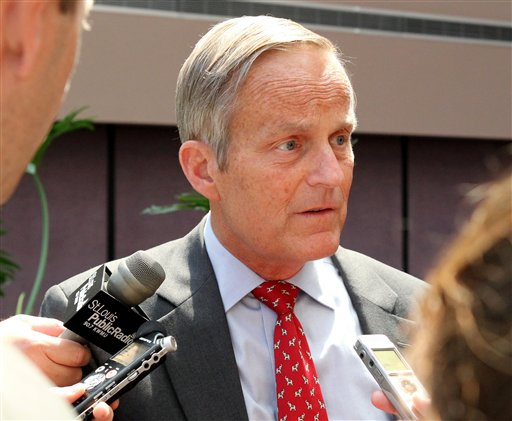 U.S. Rep. Todd Akin, Republican candidate for U.S. Senator from Missouri, takes questions after speaking at a Missouri Farm Bureau meeting in Jefferson City, Mo., in this Aug. 10, 2012, photo.