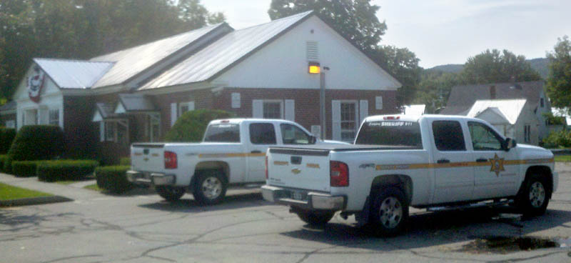 Police are looking for a man who robbed Camden National Bank in Bingham this afternoon.