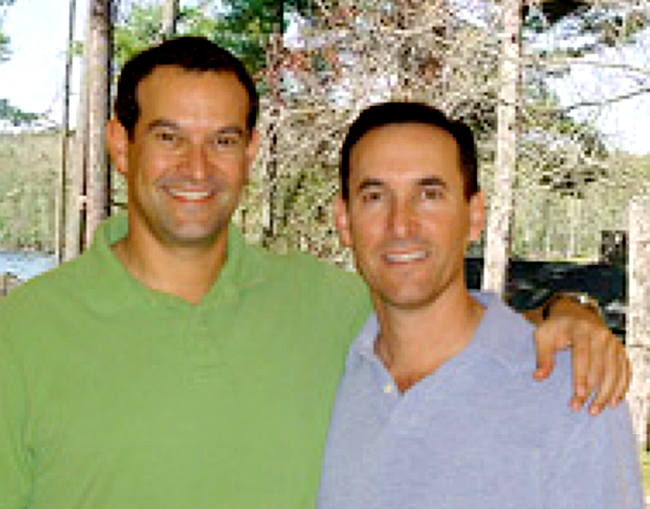 This screen image from the Camp Waziyatah website shows camp co-owners Gregg Parker, left, and Mitchell Parker.
