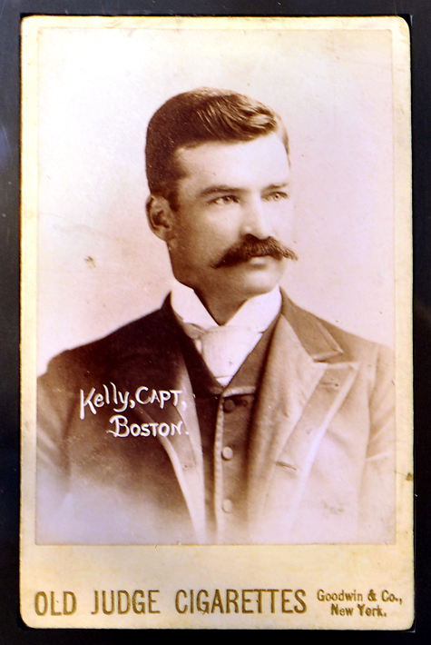 "Detail of the rare Michael ""King"" Kelly card that will be auctioned on Wednesday at the Saco River Auction Co."