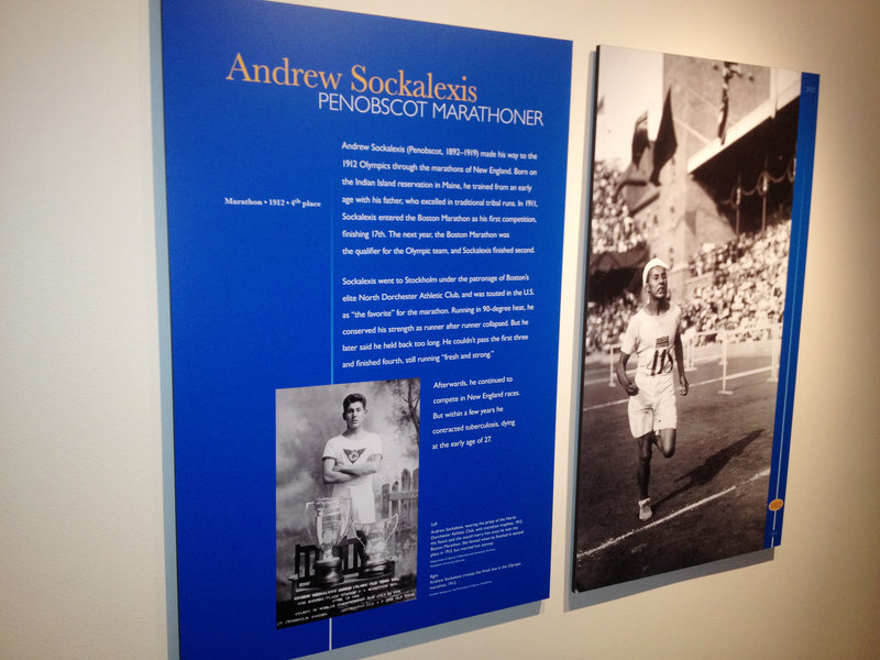"Andrew Sockalexis is one of five athletes given individual profiles in an exhibit called ""Best in the World: Native Athletes in the Olympics"" on display in the nation's capital. The show pays special homage to the 1912 Games because of the key role played by Native Americans."