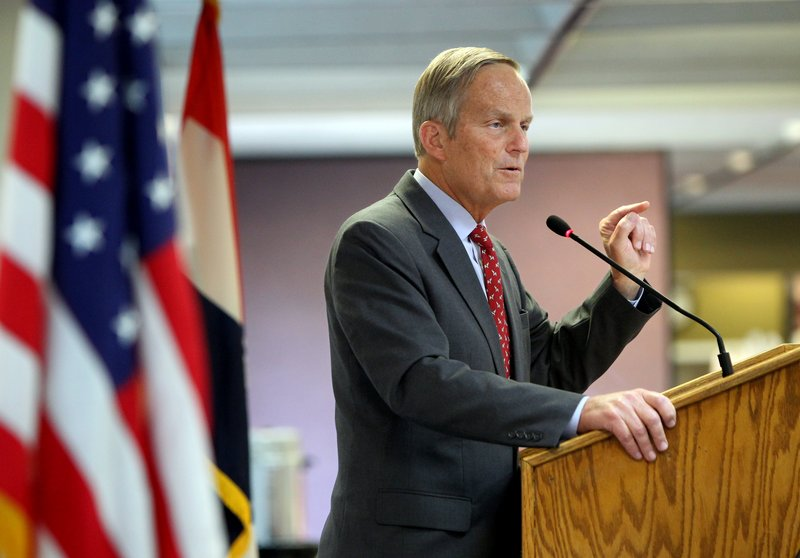 Rep. Todd Akin, GOP candidate for U.S. Senate from Missouri, speaks to the Missouri Farm Bureau this month. His remarks about rape aired Sunday on St. Louis television station KTVI.