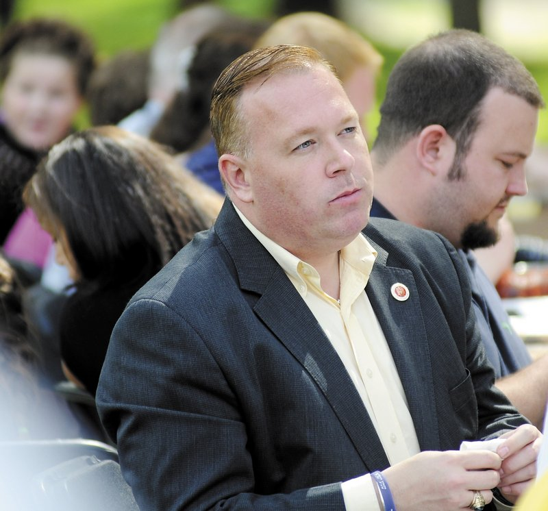New York City Councilman Dan Halloran listens Sunday at the Liberty Caucus' third annual Calvin Coolidge Clambake.