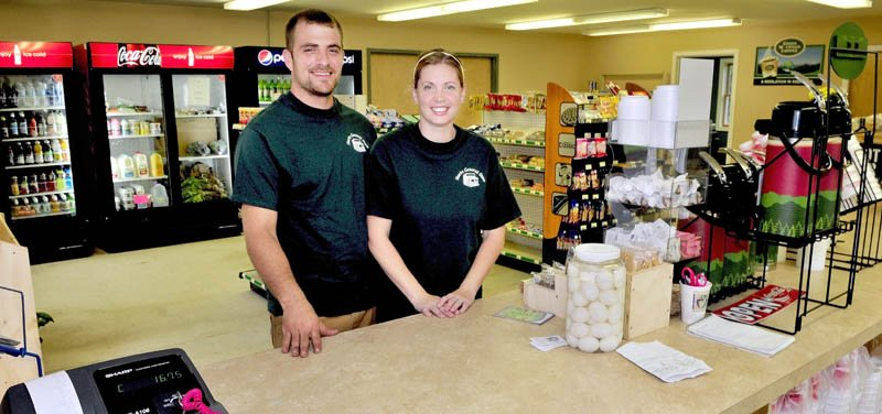 Joe and Ashley Hayden have opened the Starks General Store in the former Starks Town Office.
