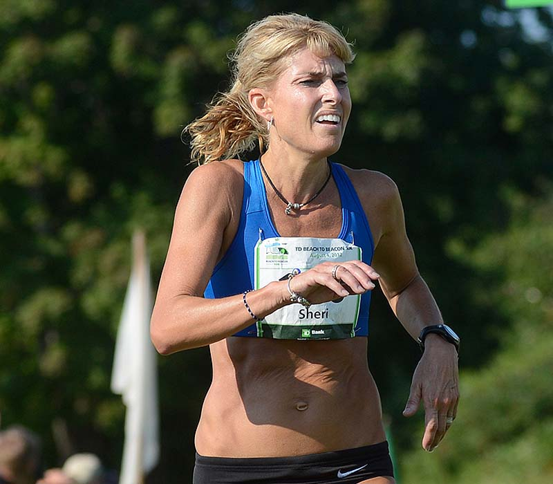 It didn't take long for Sheri Piers to realize she would not meet her time goal Saturday. She scaled back her pace after the first mile and finished in 34:24.