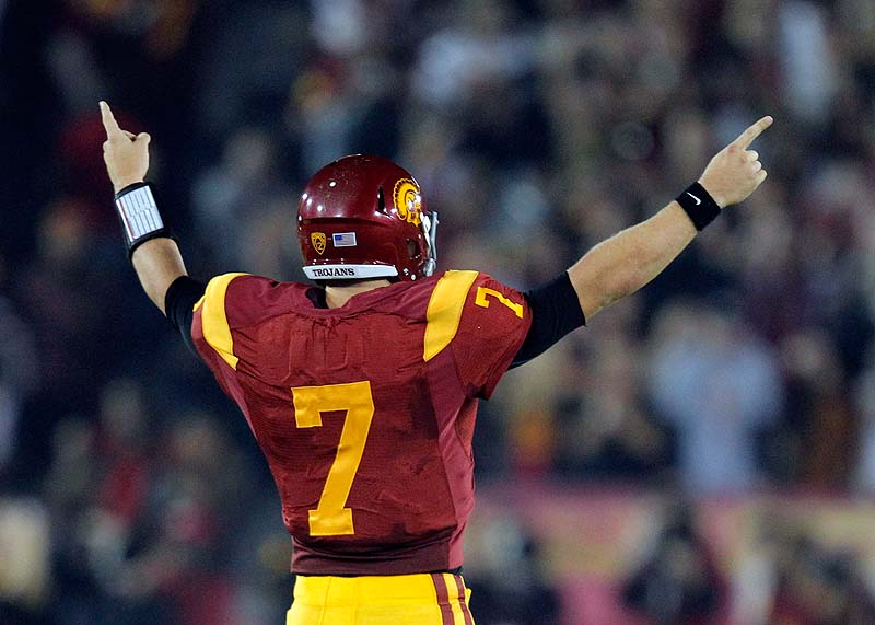 Quarterback Matt Barkley is back with the Trojans, who are ranked No. 1 in the Associated Press preseason college football poll.
