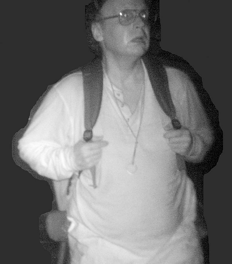 Police are seeking the public's help in identify the man burglarizing a building in this surveillance camera photo. The photo was taken in August in the Belgrade, Rome and Smithfield area, but police are not specifying the town. State police asked the public to call 624-7076 if they have information about the man.