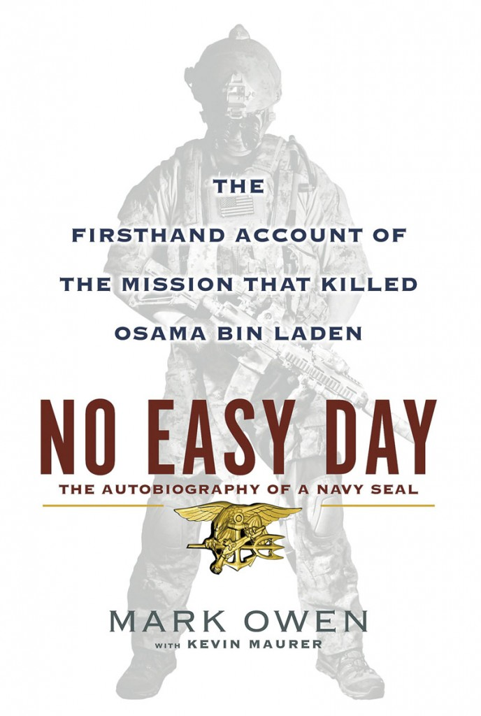 "The book cover of ""No Easy Day: The Firsthand Account of the Mission that Killed Osama Bin Laden,"" by Mark Owen with Kevin Maurer."