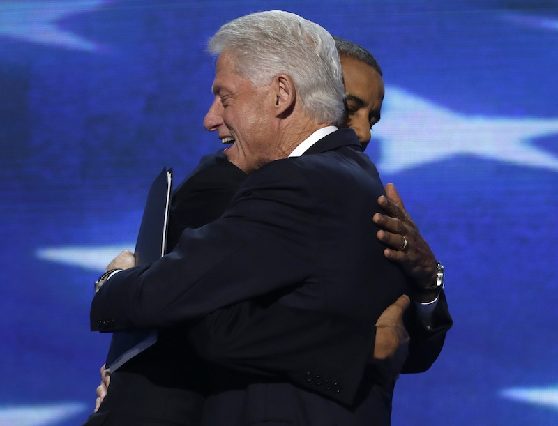 the Democratic National Convention in Charlotte, N.C., on Wednesday, Sept. 5, 2012. (AP Photo/Charles Dharapak)