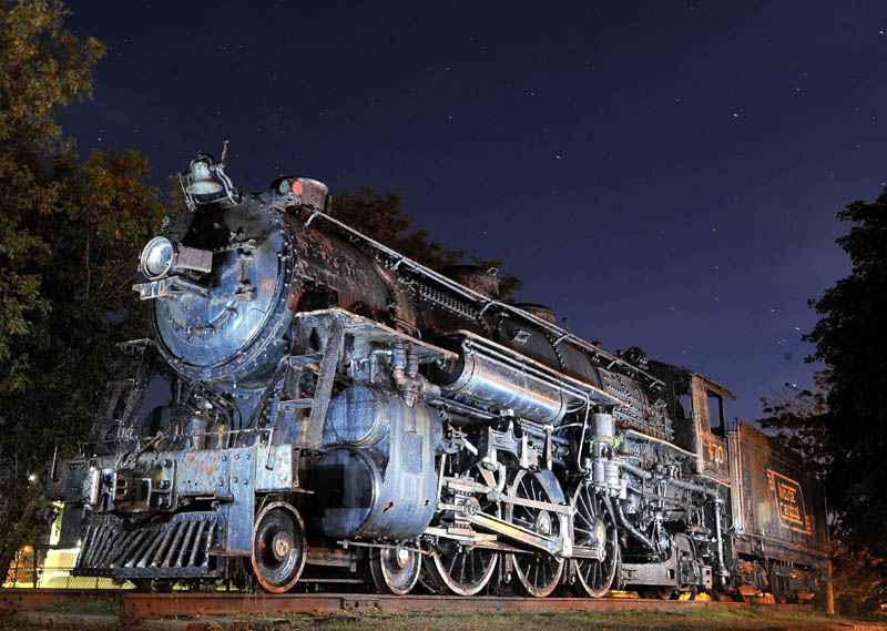 The Old 470 steam train engine in Waterville.