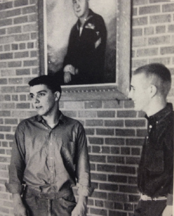 Angus King (right) and a fellow Hammond High School student, circa 1960.