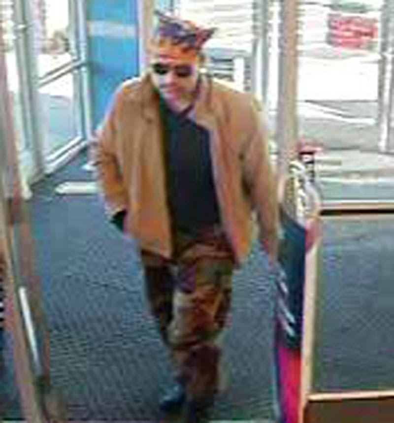 Contributed photo Police are looking for the man in this security camera photo for attempting to rob a Rite Aid pharmacy in Pittsfield Tuesday.