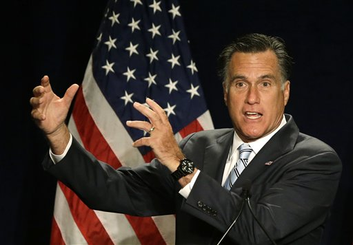 Republican presidential candidate Mitt Romney speaks at a campaign fundraising event in Atlanta on Wednesday.