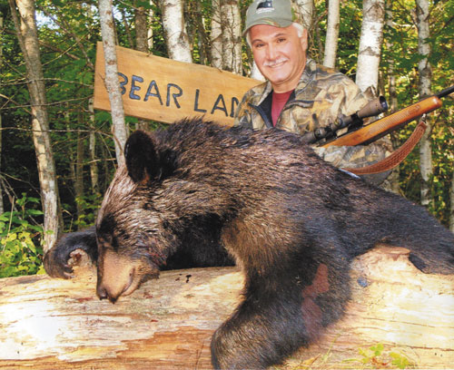 A LOT TO LIKE: John Tosco of Clinton, N.J., has shot seven bears on nine bear hunting trips to Maine, but he keeps coming back because he loves Washington County. In New Jersey, Tosco says, you walk out of the woods and you're in someone's backyard. In Maine you try to walk out of the woods, and you're walking for days.