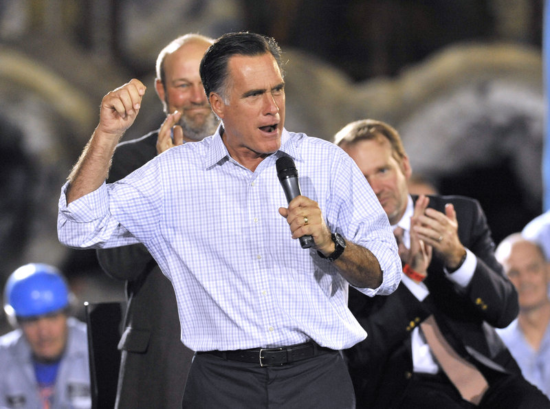 Both Republican and Democratic strategists say Republican presidential candidate Mitt Romney's stumbles on the campaign trail may be part of the reason that Republican U.S. Senate hopefuls are losing ground in polls.
