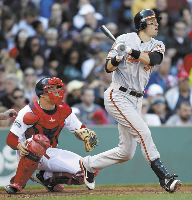 PLAYING BALL: Ryan Flaherty is playing a role for the surprising Baltimore Orioles this season. The Deering High School graduate has played in 68 games at several positions and is often a defensive replacement for the Orioles, who lead the AL wildcard and are a game behind the Yankees in the AL East.