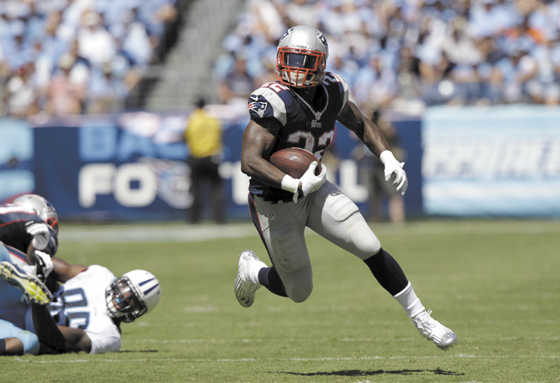 BIG EFFORT: Running back Stevan Ridley made quite a splash in his the New England Patriots season opener Sunday. He rushed for 125 yards and a touchdown on 21 carries, caught two passes for 27 yards and didn't fumble. LP Field