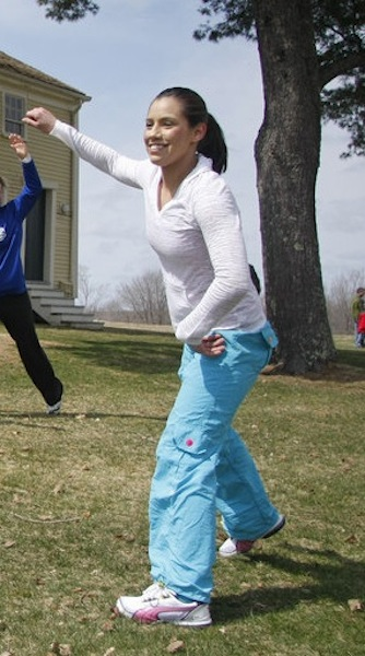 In this April 2011 file photo, Alexis Wright leads a Zumba dance demonstration at Pura Vida Studio in Kennebunk.