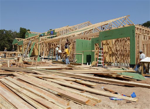 New homes are under construction recently in Edmond, Okla. Nearly all regions of the United States are reporting that stronger housing markets have helped boost economic growth since the middle of August.