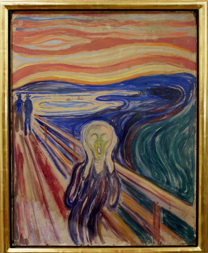 """One of four versions of Edvard Munch's painting """"The Scream."""" This one is displayed at the Munch Museum in Oslo."""