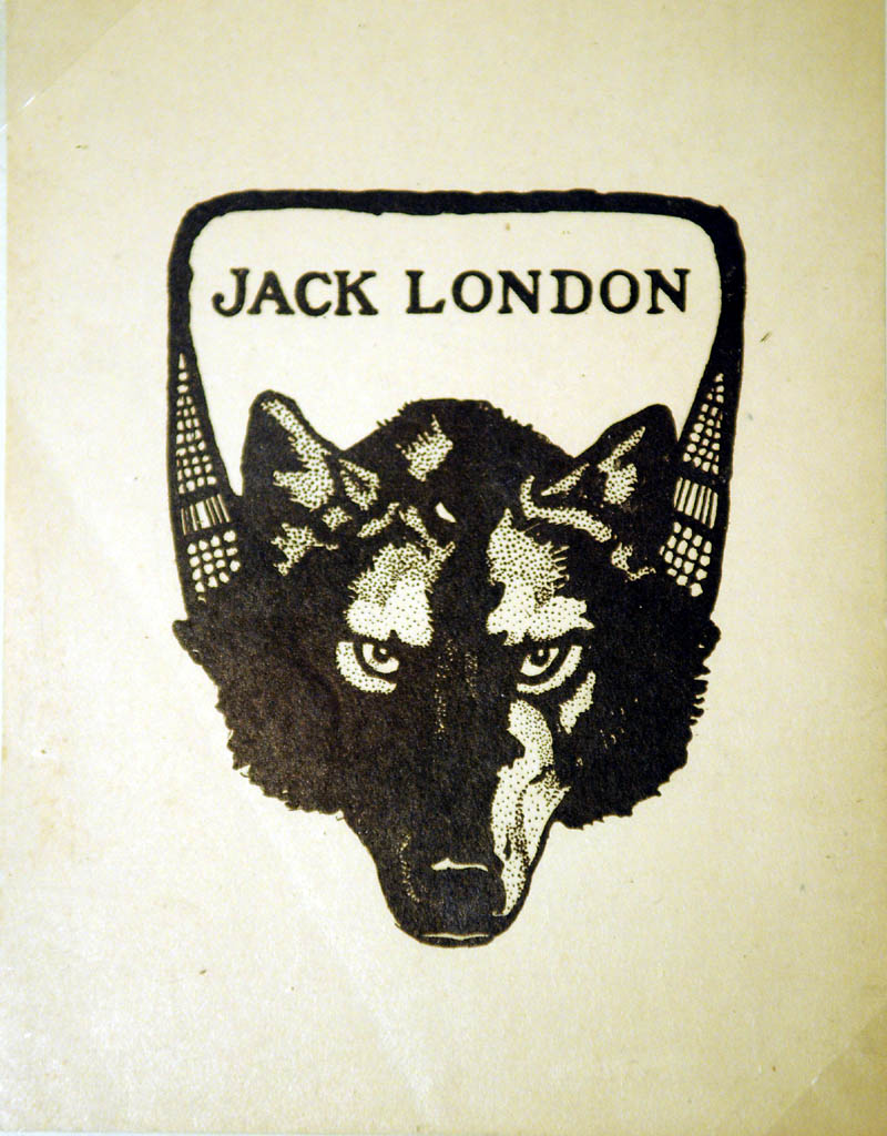 ON DISPLAY: Author Jack London's bookplate, from the collection of Elizabeth M. Hyatt exhibited Sunday at the Williams House, part of the Cary Memorial Library in Wayne.