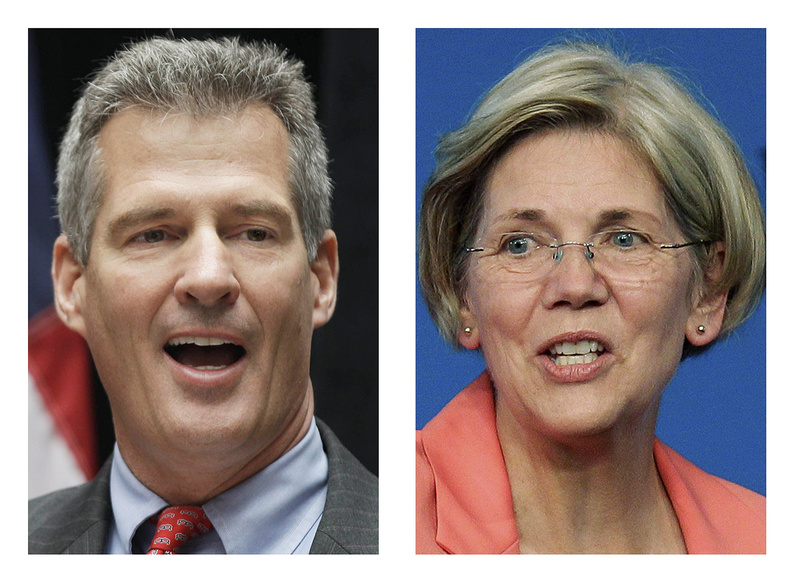 Sen. Scott Brown, R-Mass., and Democratic challenger Elizabeth Warren