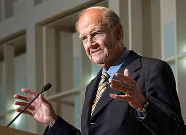 Sen. George McGovern, an iconic liberal who lost to Richard Nixon in 1972 and later lionized for his staunch opposition to the Vietnam war, died Sunday.