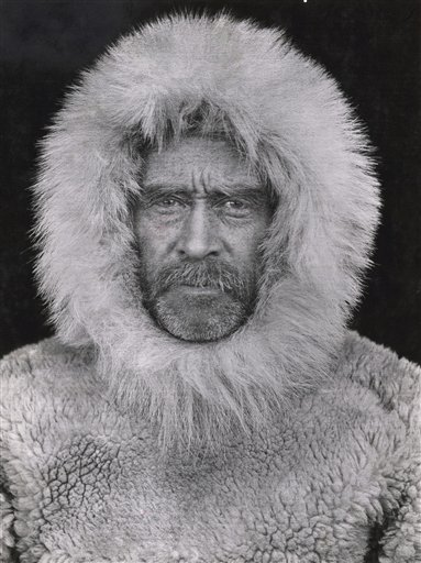 This 1908 photo of Arctic explorer Adm. Robert E. Peary was taken by an unidentified photographer in Cape Sheridan, Canada.
