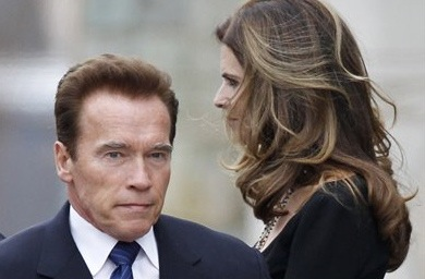 Maria Shriver, right, and her husband, actor and former California Gov. Arnold Schwarzenegger, in a Jan. 22, 2011 photo.