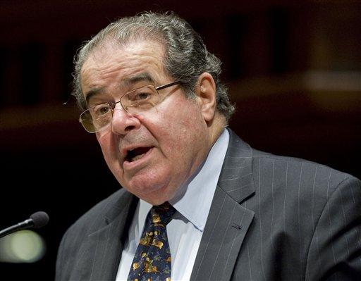 Supreme Court Justice Antonin Scalia speaks at Wesleyan University in Middletown, Conn., in this March 8, 2012, photo.