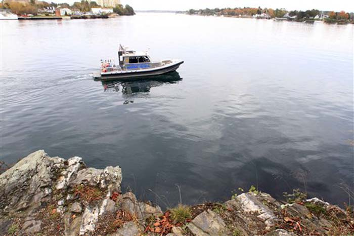 "The New Hampshire Marine Patrol continued to search the Piscataqua River near a cliff on Pierce Island for the body Elizabeth ""Lizzy"" Marriott on Monday."