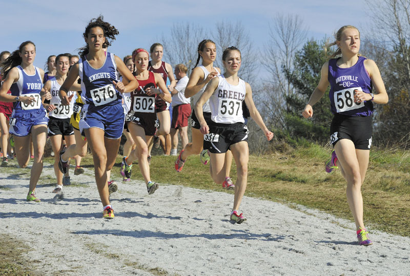 Waterville Senior High School's Bethanie Brown won the Class B state title Saturday at Troy Howard Middle School in Belfast.
