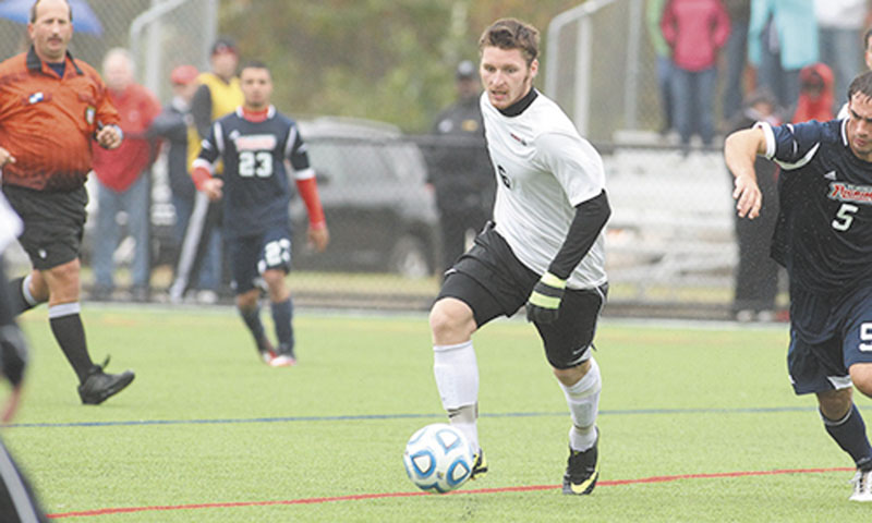 CONTRIBUTING: Maranacook Community School graduate Dakota Duplissie has helped the Thomas College men's soccer team to a 5-0-1 record in the North Altnatic Conference this season. Duplissie has six goals and six assists.