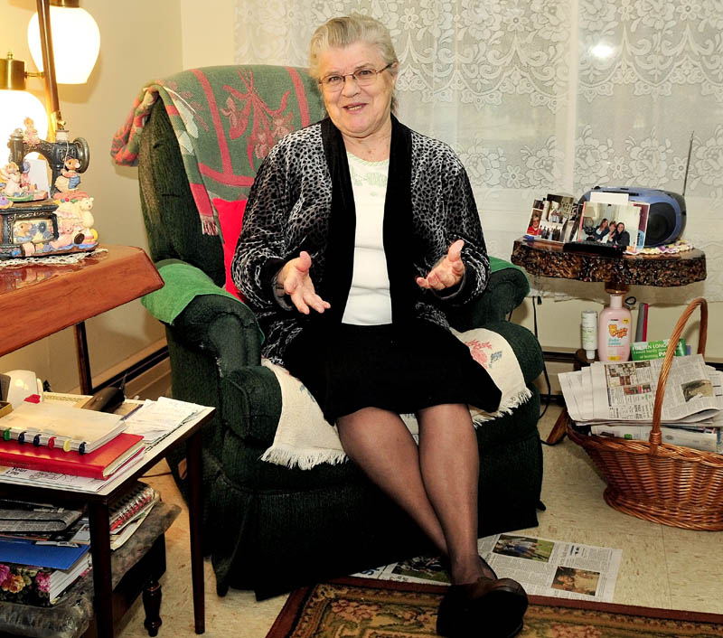 Claire Smith, 80, talks at her apartment in Madison on Sunday about her decision to cease driving, because of arthritis and poor eyesight.