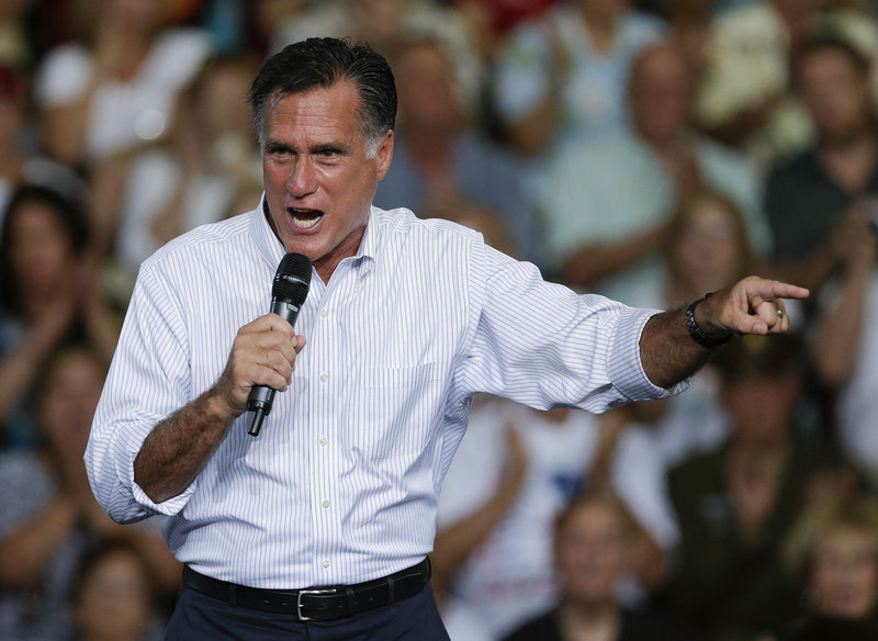 "Republican presidential candidate Mitt Romney accused Vice President Joe Biden on Friday of ""doubling down on denial"" in a dispute over security at a diplomatic post in Libya that was overrun by terrorists on Sept. 11."
