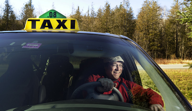 Greg Roy owns a taxi business and a rug cleaning business in Carrabassett Valley.