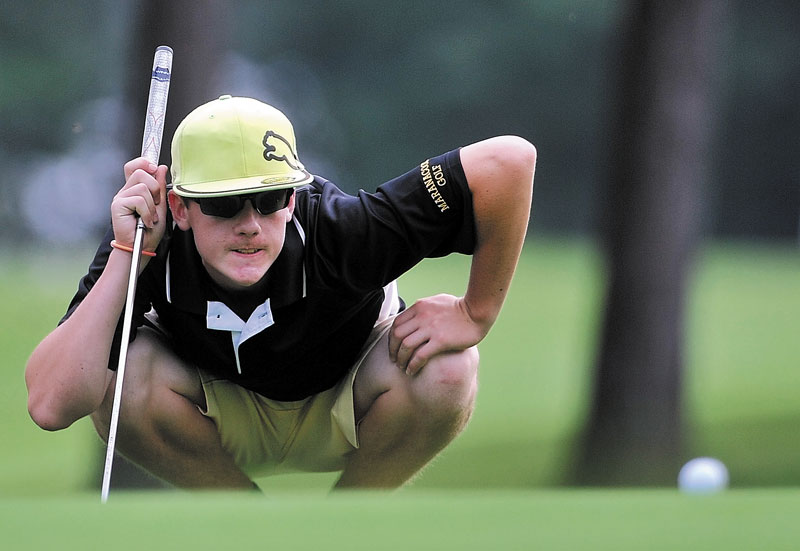 READY TO GO: Luke Ruffing and the Maranacook Community School will try to win the Class B state championship at Natanis on Saturday. Ruffing was the low qualifier at the Kennebec Valley Athletic Conference Class B qualifier, shooting 76.